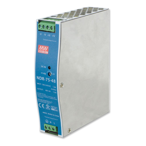 PWR-75-48 DC Single Output Industrial DIN Rail Power Supply Unit