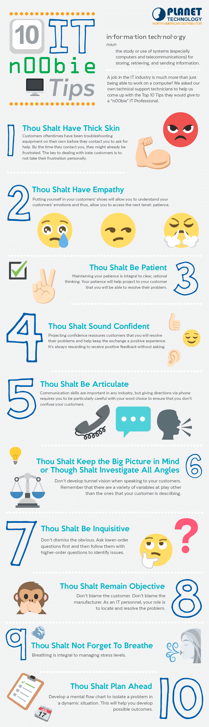 10 Commandments of IT Infographic