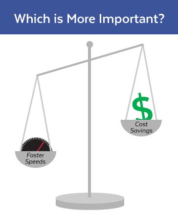 Speed or Savings