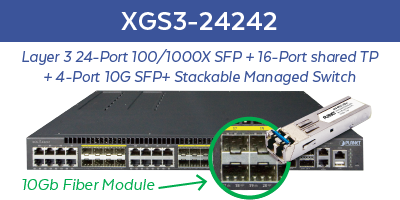 XGS3-24242 Managed Switch with SFP