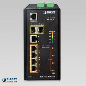 IGS-5225-4UP1T2S Industrial PoE Switch front