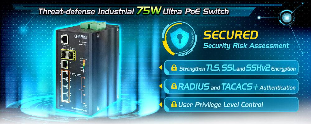 Industrial Ultra PoE Switch | 802 3bt Ready | IGS-5225-4UP1T2S