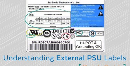 External PSU Label Quick guide