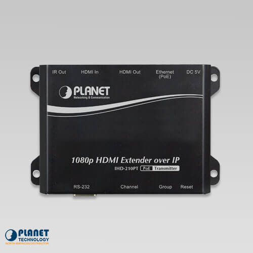 hdmi ext transmitter over ip w poe digital signage ihd 210pt