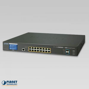 GS-5220-16P2XV Touch Screen PoE Switch
