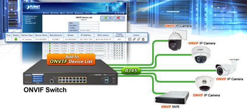 GS-5220-16P2XV ONVIF Switch