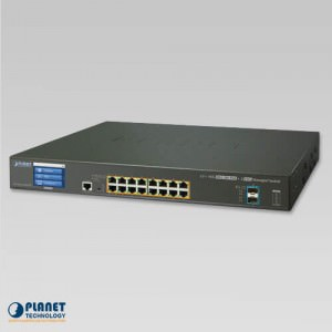 GS-5220-16UP2XV PoE LCD Switch