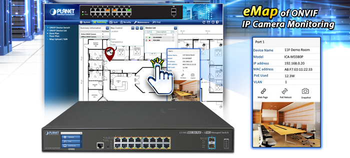 GS-5220-16UP2XVR eMap of ONVIF