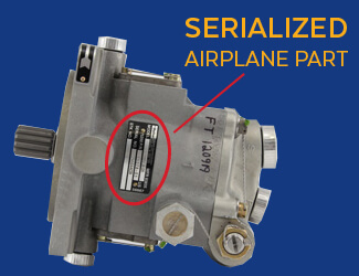 Airplane Serialized Part Number
