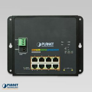 WGS-5225-8P2S Wall mount PoE Switch Front