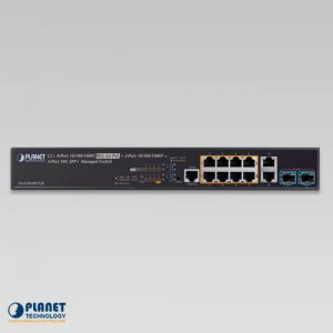 GS-5220-8P2T2X Managed PoE Switch Front