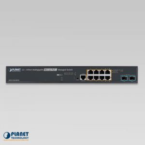 MGS-5220-8P2X Multi-Gigabit PoE Switch Front