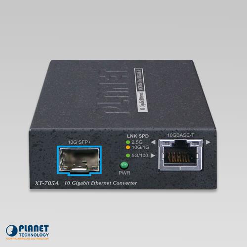 10G Copper to 10F SFP Fiber Media Converter | XT-705A | Planetech USA