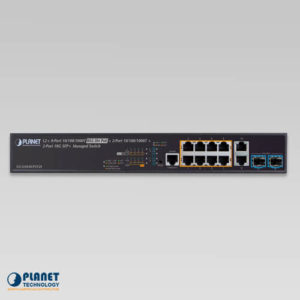 GS-5220-8UP2T2X 802.3bt PoE Switch Front