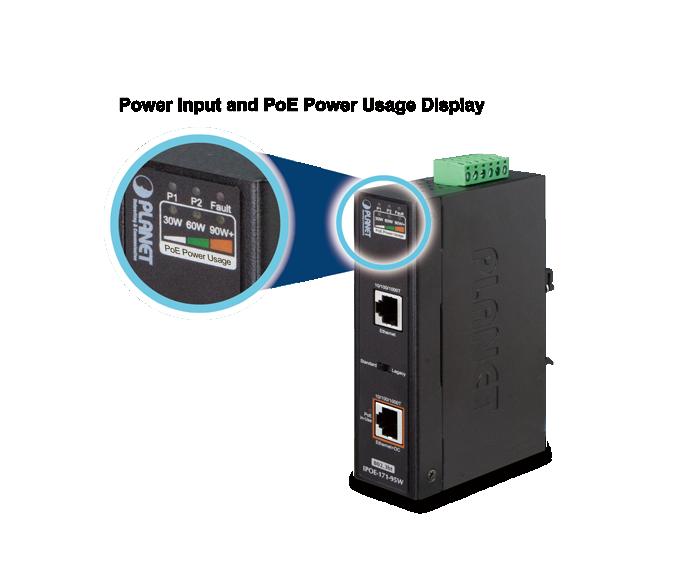 IPOE-171-95W PoE Usage Display