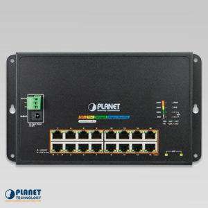WGS-4215-16P2S Wall Mount PoE Switch Front