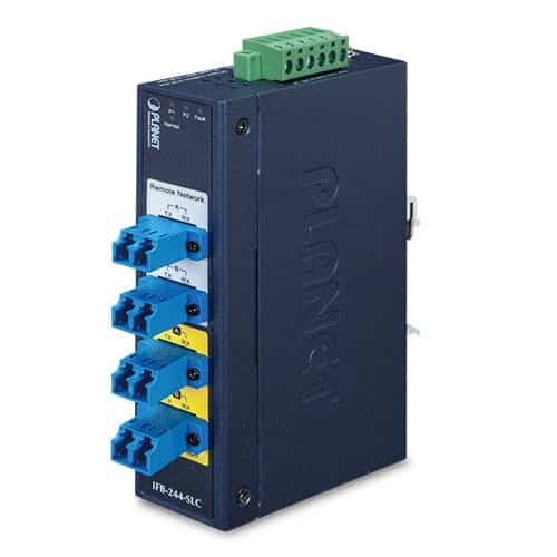 IFB-244-SLC Industrial 2-Channel Optical Fiber Bypass Switch [Single Mode LC Connector]