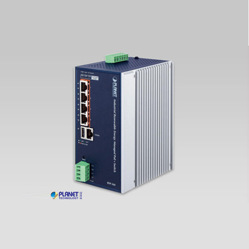BSP-360 Industrial Renewable Energy 4-Port 10/100/1000T 802.3at PoE+ Managed Ethernet Switch