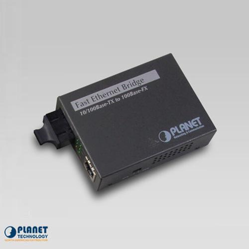 FT-802S50 10/100Base-TX to 100Base-FX Bridge Media Converters (SM, SC, 50km, LFPT)