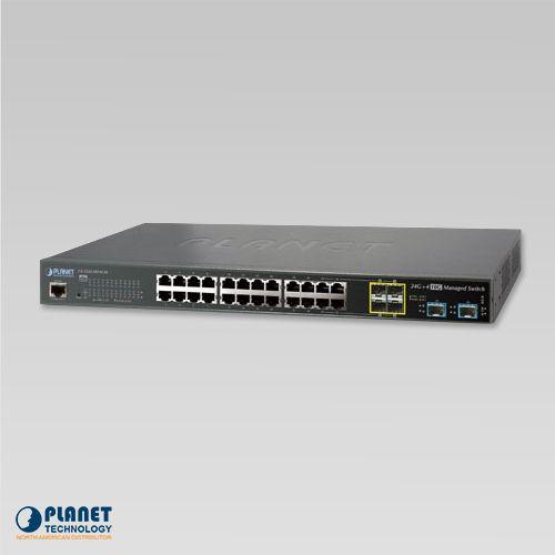 GS-5220-20T4C4X L2+ 24-Port 10/100/1000T + 4-Port Shared SFP + 4-Port 10G SFP+ Managed Switch