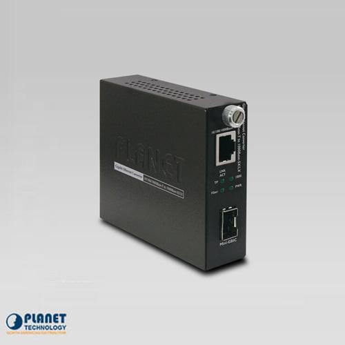 GST-805A  10/100/1000TX to 1000FX Smart Media Converter (SFP)
