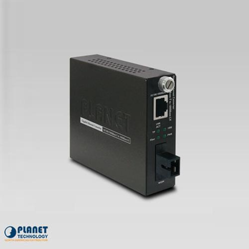 GST-806A15 10/100/1000TX to 1000FX WDM Smart Media Converter (SM, SC, 1310nm, 15km)