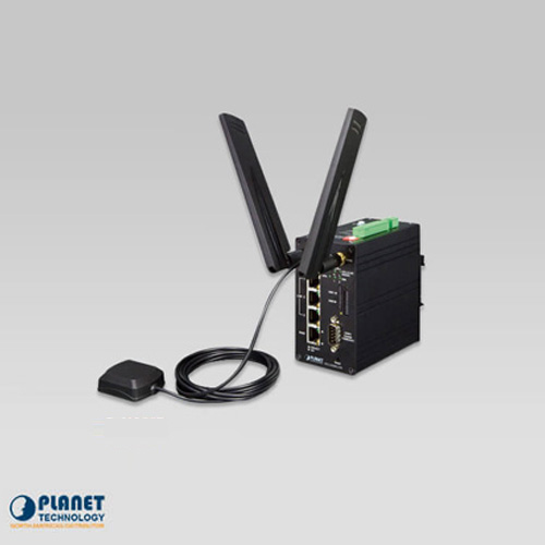 ICG-2420G-LTE Industrial 4G LTE Cellular Gateway with 4-Port 10/100TX (2-SIM Card Slot, 1 RS232, 1 RS485, DI/DO, GPS, -20~70C)