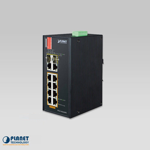 IFGS-1022HPT Industrial 8-Port 10/100TX 802.3at PoE + 2-Port Gigabit TP/SFP Combo Ethernet Switch