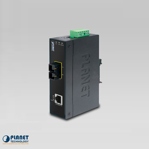 IFT-802TS15  IP30 Industrial 10/100TX to 100 FX Media Converter (SM, SC, 15km) (-40 ~ 75C)