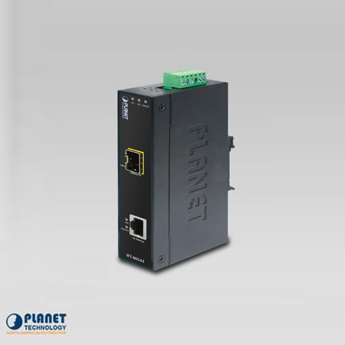 IFT-805AT  IP30 Industrial 10/100TX to 100FX Media Converter (SFP) (-40 ~ 75C)