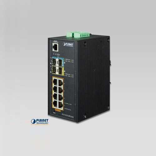 IGS-5225-8P2S2X Industrial L2+ 8-Port 10/100/1000T 802.3at PoE + 2-Port 100/1000X SFP + 2-Port 10G SFP+ Managed Ethernet Switch (-40~75C)