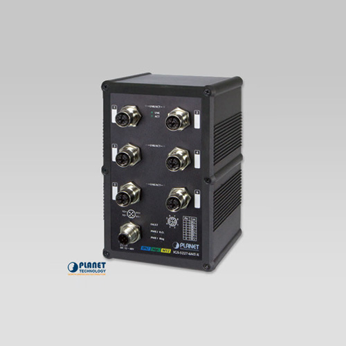 IGS-5227-6MT-X Industrial IP67 Rated 6-Port 10/100/1000T M12 Managed Ethernet Switch (-40~75C, X-coded M12)