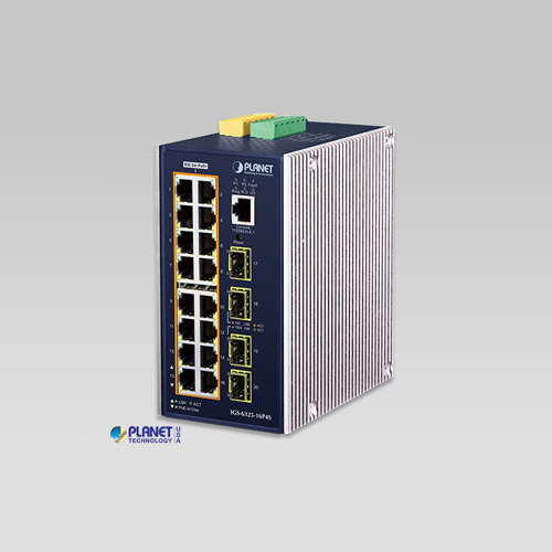 IGS-6325-16P4S L3 Industrial 16-Port 10/100/1000T 802.3at PoE + 4-Port 100/1000X SFP Managed Ethernet Switch