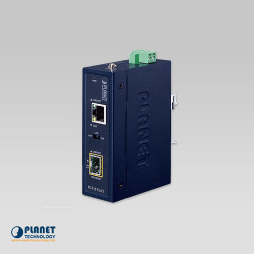 IGT-815AT Industrial Compact 100/1000BASE-X to 10/100/1000BASE-T Media Converter