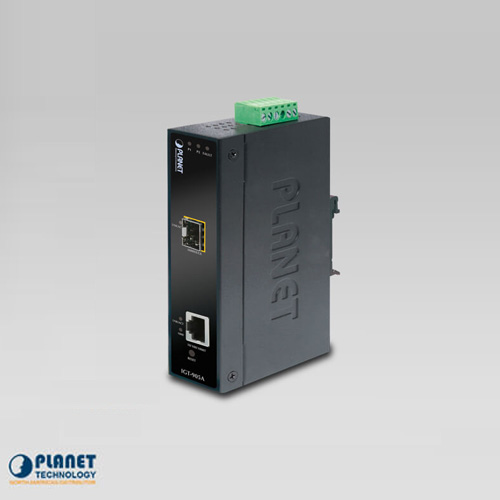 IGT-905A  IP30 Industrial SNMP Manageable 10/100/1000Base-T to 1000FX (SFP) Gigabit Media Converter (-30 ~ 75C)