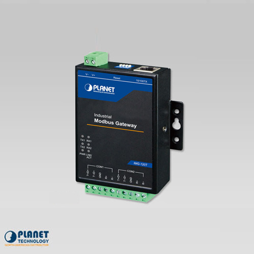 IMG-120T Industrial 2-port RS422/485 Modbus Gateway