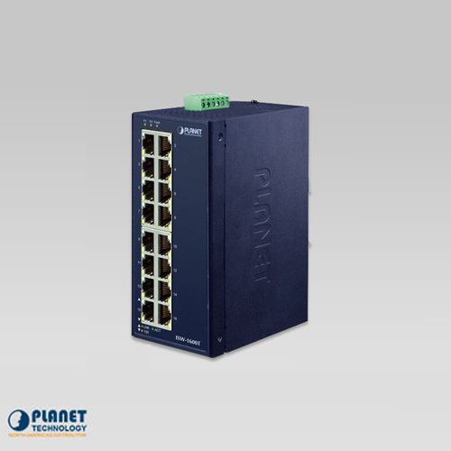 ISW-1600T Industrial 16-Port 10/100TX Fast Ethernet Switch (-40~75C)