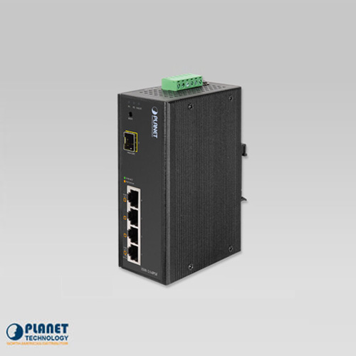 ISW-514PSF IP30 Web/Smart POE Industrial Fast Ethernet Switch 4-Port 10/100 Base-TX + 1-Port 100FX (SFP) (-10 ~ 60C)