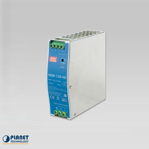 PWR-120-48 48V, 120W DC Single Output Industrial DIN Rail Power Supply Unit