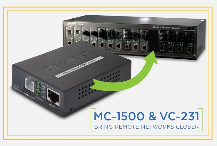 MC-1500 & VC-231 Bring Remote Networks Closer