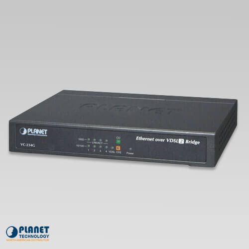 VC-234G 4-Port 10/100/1000T Ethernet to VDSL2 Bridge (30a profile w/G.vectoring, RJ11)