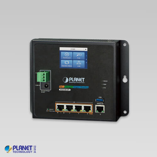 WGR-500-4P Industrial Wall-mount Gigabit Router with 4-Port 802.3at PoE+