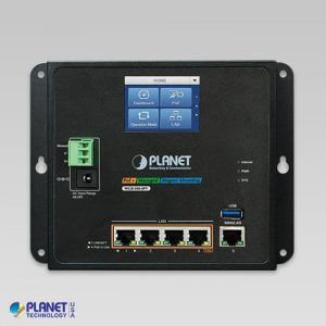 WGR-500-4PV Industrial PoE Router with Touch Screen Front