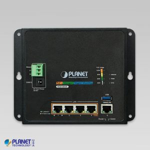 WGR-500-4P Industrial PoE Router Front