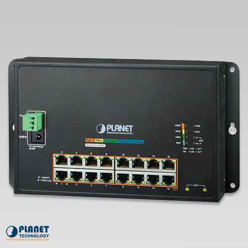 WGS-4215-16P2S Wall Mount PoE Switch
