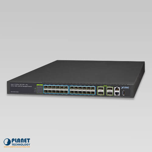 XGS-6350-24X4C Layer 3 24-Port 10G SFP+ + 4-Port 100G QSFP28 Managed Switch