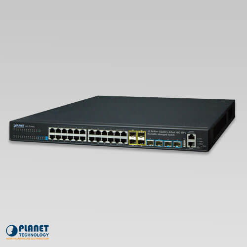 XGS3-24042 Stackable 24-Port Gigabit L3 IPv6 Managed Switch with 4 Optional 10G slots