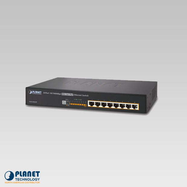 FSD-808HP 8-Port 10/100Mbps 802.3at PoE Desktop Switch (140W)