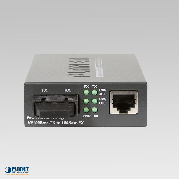 FT-802  10/100Base-TX to 100Base-FX Media Converter (MM, SC, 2km, LFPT)