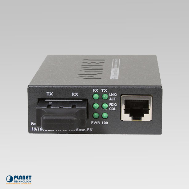 FT-802S15 10/100TX - 100Base-FX Fiber Media Converter (SM, SC, 15km, LFPT)